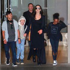 Our girl Zahara Jolie-Pitt rocking her Terez Black Mesh Activewear Leggings!