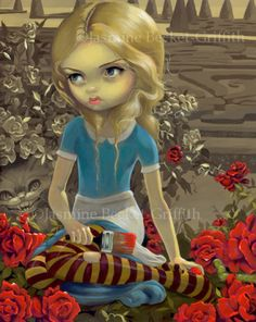 ALICE PAINTING THE ROSES RED BY JASMINE BECKETT-GRIFFTH
