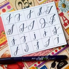 20 ways to write the letter J by @letteritwrite • see also the video of her writing the letters