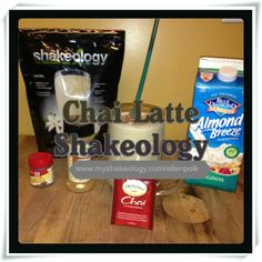Chai Latte Shakeology  1/2 cup strong brewed chai tea (one bag per shake), cooled off 1/2 cup almond milk, skim or rice milk 1/2 frozen banana* 1 scoop Vanilla ‪Shakeology Dash of nutmeg or cloves Ice Blend and enjoy the super-ness!  *Peel and freeze bananas in a ziploc bag. I break them into thirds or halves.  Ready to order some Shakeology and experience the benefits for yourself? www.myshakeology.com/ellenpolk