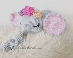 Вязание крючком игрушки - слоника-сплюшки (1)