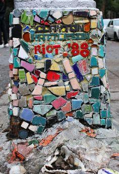 Mosaic by Jim Powers, East Village, Manhattan, New York City