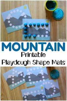 Help little ones practice fine motor skills and recognizing basic shapes with these fun printable mountain playdough shape mats for kids! Preschool Printables, Preschool Crafts, Kids Crafts, Free Printables, Shapes For Kids, Basic Shapes, Fun Activities For Kids, Preschool Activities, Mountain Crafts For Kids