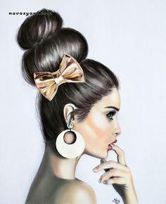 Dibujo en tonos pastel por Natalia Vasilyeva.