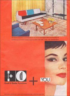 1955 Knoll + Drake Ad
