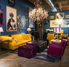 40 Untold Stories About Eclectic Chic Living Room You Must Read 327 Colourful Living Room, Eclectic Living Room, Chic Living Room, Paint Colors For Living Room, Room Colors, Living Room Furniture, Living Room Decor, Eclectic Decor, Furniture Makers