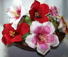 3d Hibiscus, secretsof.com, $10, machine embroidery flowers