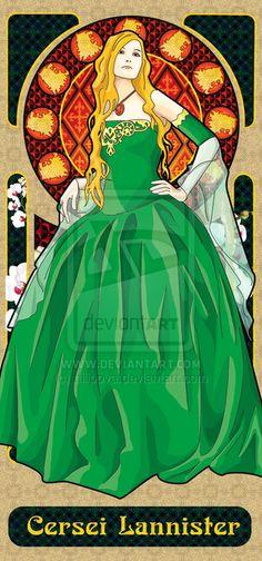 Cersei Lannister - Game Of Thrones - tfilipova on deviantART Got Dragons, Mother Of Dragons, Cersei Lannister, Valar Dohaeris, Valar Morghulis, Real Madrid, Game Of Thrones Books, Game Thrones, Manchester United