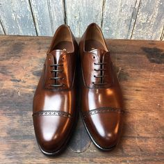 ToBox — Antique brown oxford with punched toe cap, special...