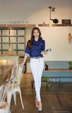 Korean Women`s Fashion Shopping Mall, Styleonme. Stylish Work Outfits, Business Casual Outfits, Professional Outfits, Classy Outfits, Girl Outfits, Girls Fashion Clothes, Fashion Outfits, Korean Fashion Dress, Ideias Fashion