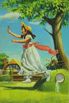 'A Second Book of Nursery Rhymes' illustrated by Frank Hampson Book Illustrations, Children's Book Illustration, Ladybird Books, Vintage Pictures, Nursery Rhymes, Art World, Childhood Memories, Original Artwork, Book Art