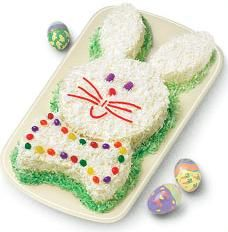Easter Bunny Cake made from 2 rounds