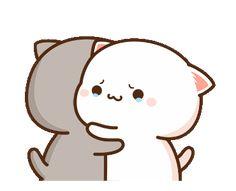 Cute Anime Cat, Cute Bunny Cartoon, Cute Kawaii Animals, Cute Cartoon Pictures, Cute Love Pictures, Cute Love Cartoons, Cute Cat Gif, Baby Cartoon, Cute Cats