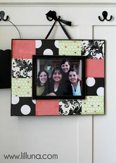 Scrapbook Frame Tutorial on { lilluna.com }