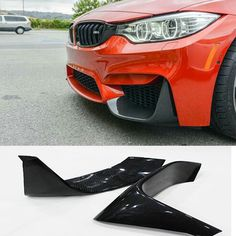F82 M4 Performance Style Carbon Fiber Auto Car Front Lip Splitter Cover trim for BMW F82 2014-2016