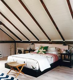 small bedrooms with low slanted ceilings   Savvy Design Ideas That Help Make The Most Of Slanted Ceilings