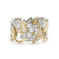 ジーン・シュランバーゼー 4 リーフ リング ダイヤモンド 18Kゴールド