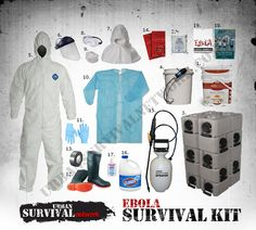 For those of you still worried about Ebola, here's a quick list of all the PPE (Personal Protective Equipment) that you'd need to Survive and Ebola Pandemic. Links are in the post.