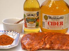 Memphis Mop Sauce: 32oz Heinz ketchup, 1 cup cane sugar, 1/2 cup yellow mustard, 1/2 cup cider vinegar, 1/4 cup chili powder, 1 tbsp liquid smoke, 1 tbsp black pepper, 1 tbsp worcestershire sauce, 1 tbsp garlic salt, 2 tbsp frank's hot sauce, 1 tsp celery salt. Combine all ingredients in a med sauce pan. Stir well and simmer over med heat for 30 min.