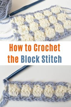 How to Crochet the Block Stitch step by step. There are just some crochet stitches that are show stoppers. The block stitch is definitely one of them! I love the modern look and the versatility of this stitch depending on which colors you use. There are a few great tutorials online for how to crochet the block stitch, and I've noticed that there's a couple of different ways to do it. Today I want to show you the method that I prefer. #crochet #blockstitch #urbakicrochet #crochetstitches Crochet Stitches For Blankets, Crochet Stitches Patterns, Baby Blanket Crochet, Crochet Shawl, Crochet Yarn, Bobble Crochet, Crochet Cushions, Crochet Pillow, Afghan Patterns