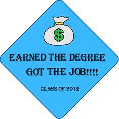 Living the Grad Life. Professionally Printed Graduation Cap Decoration