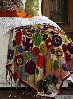 crochet blanket by pussling, via Flickr