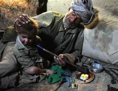 Opium addiction ravages Afghan families. Father giving opium to his baby. By Rukmini Callimachi. In dozens of mountain hamlets in this remote corner of Afghanistan, opium addiction has become so entrenched that whole families — from toddlers to old men — are addicts.
