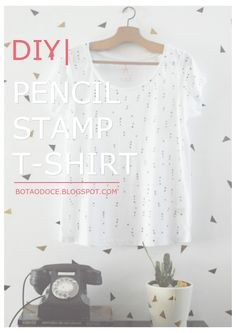 PENCIL STAMP T-SHIRT DIY