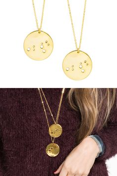 This necklace is such a stylish way to express your personality by your Zodiac Sign. We're not astrologers, but we know that this will be something that you'll love! Get yours today!