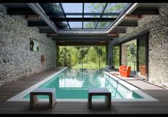 wellness design inspiration bycocoon.com | indoor pool | modern bathroom taps…
