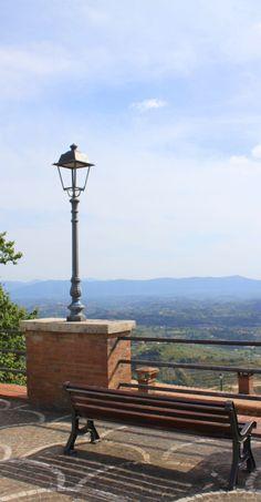 Lantern and park bench, Ciociaria, Italy