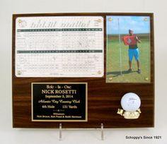 Hole In One Scorecard Photo Plaque