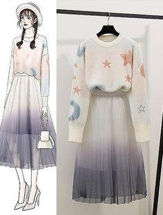 Fashion Drawing Dresses, Fashion Illustration Dresses, Fashion Dresses, Cute Fashion, Fashion Models, Girl Fashion, Fashion Design Drawings, Fashion Sketches, Pretty Outfits