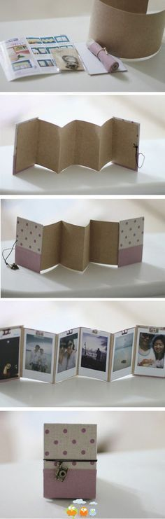 Crafty little photo album - quick to make and slim profile fits in an envelope for easy mailing.