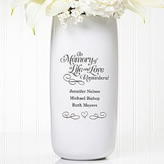In Memory... Personalized Wedding Vase