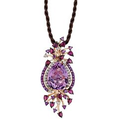 Le Vian Multistone Cord Pendant in 14k Rose Gold - Necklaces - Jewelry & Watches - Macy's