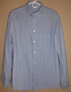 $15.95 Mens Old Navy Light Blue Vintage Fit Button Front Shirt Size: Medium