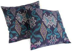 Neat colors!!  (Ikat Pillows - Indonesian print)