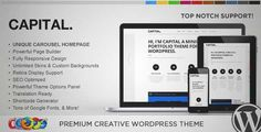 Download and review of WP Capital Responsive Creative WordPress Theme, one of the best Themeforest Creatives themes