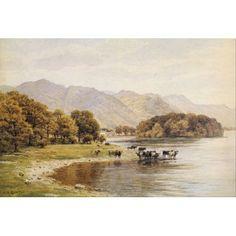Derwentwater Cumbria Canvas Art - Alfred Quinton (24 x 36)
