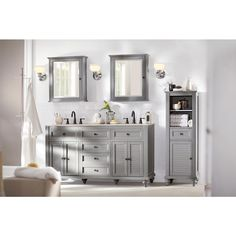 Home Decorators Collection Fremont 72 in Double Vanity in White