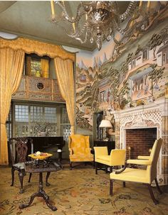 爱 Chinoiserie? 爱 home decor in chinoiserie style - The China Trade Room, Henry Davis Sleeper summer home in Beauport.