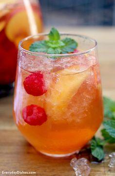 Peach white wine sangria recipe video