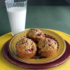 These moist muffins have a fruity flavor and are full of whole grain goodness. Serve them anytime.