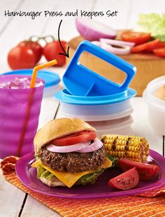 Prep perfect patties and keep them in the freezer or fridge until it's time to grill. #Tupperware #Hamburger