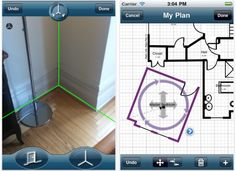 Used camera to measure walls and create a floor plan. // MagicPlan app