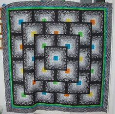 Striking Black and White Quilt | ... block by toadusew - black and white quilt top picture on VisualizeUs