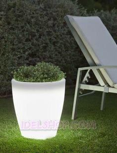 Vasi luminosi illuminazione esterno giardino | Arredo Giardino ...