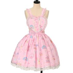 kawaii lolita pink dress