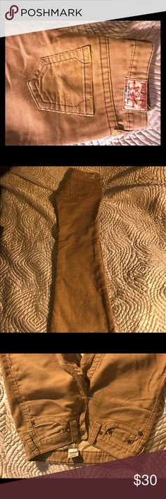 True Religion light brown cords 25 never worn These are nwot light brown True Religion cords in size 25. True Religion Jeans Boot Cut